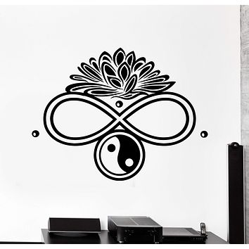 Wall Vinyl Decal Buddha Infinity Lotus Ying Yang Home Interior Decor Unique Gift z4122