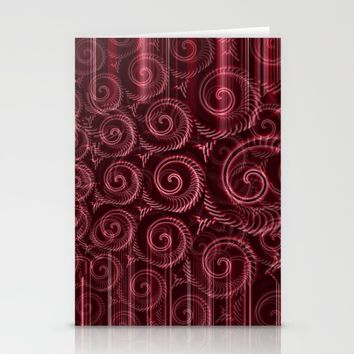 Maroon Decoration #2 Stationery Cards by Moonshine Paradise