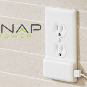 SnapPower Charger: A USB charger in a coverplate - no wiring