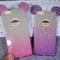 Fashion Gradient Twinkle iPhone 5se 5s 6 6s Plus Case Solid Cover + Gift Box 436