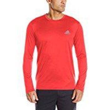 ONETOW adidas Men's Training Essential Tech Long Sleeve Tee