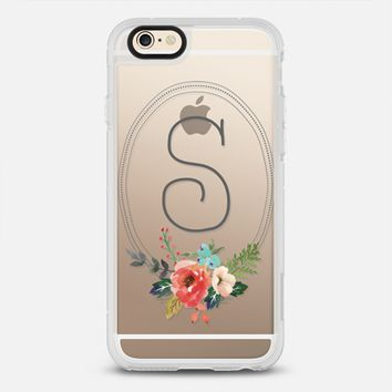 Watercolor Floral Monogram Initial S iPhone 6s case by Jande Laulu | Casetify