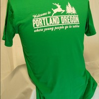 Portland, Where Young People Go to Retire mens tshirt