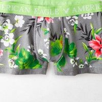 AEO Men's Floral Low Rise Trunk (Grey)