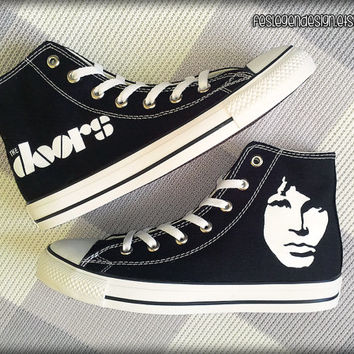 Jim Morrison / The Doors Custom Converse / Painted Shoes  sc 1 st  Wanelo & Jim Morrison / The Doors Custom Converse from FeslegenDesign on