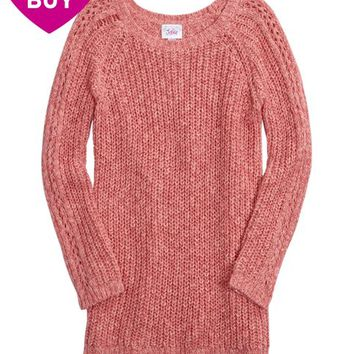 SOPHIA MARLED CABLE KNIT SWEATER | GIRLS SWEATERS TOPS | SHOP JUSTICE