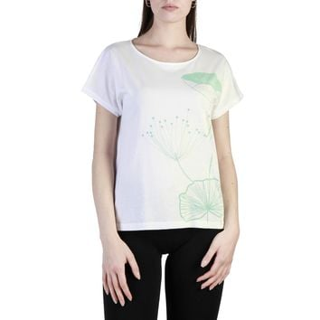 Think Pink White Sleeves Short T-Shirt