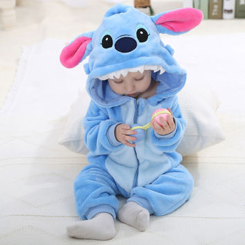 Flannel Baby Cartoon Animal bodysuit