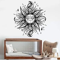 Vinyl Wall Decal Sun Moon Stars Dream Children's Room Decor Stickers Unique Gift (1195ig)