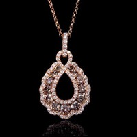 1.46ct Diamond 18k Rose Gold Pendant