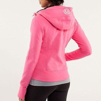 DCCKU3N Lululemon Fashion Zipper Embroidery Hooded Cardigan Jacket Coat