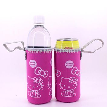 2PCS  Hello Kitty Cartoon cup sets Mug sets Beer sets Neoprene Cup sets / 2pcs   pink