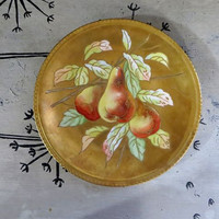 Hand Painted Limoges LDBC Flambeau Cabinet Plate Limoges France Plate Antique Limoges Plate with Pears