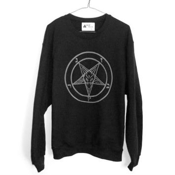 shopwithasianstereotypes: Sigil of Baphomet Sweater