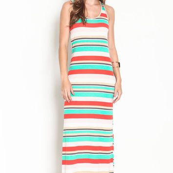 Striped Maxi Racerback Dress