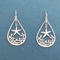 Deep in the sea, Starfish, Gold, Silver, Earrings, Ariel, Mermaid, Jewelry, Birthday, Best friends, Sister, Gift, Jewelry