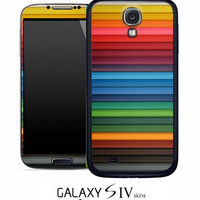 Horizontal Neon Bars Skin for the Samsung Galaxy S4, S3, S2, Galaxy Note 1 or 2