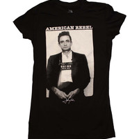 Johnny Cash American Rebel Junior's T-Shirt