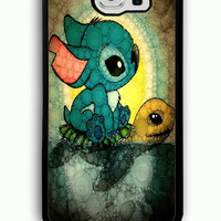 Samsung Galaxy S6 Case - Rubber (TPU) Cover with Stich and Turtle Rubber case Design