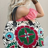 Wildflower Embroidered Bag