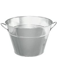Silver Metal Party Tub