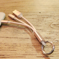 Lightning Cable Key Ring for iPhone 6s 6 plus Android + Gift Box