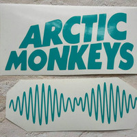 Arctic Monkeys Car Decal Set of 2 Laptop decal vinyl decal choice of color hipster car sticker ready to ship! Vinyl sticker