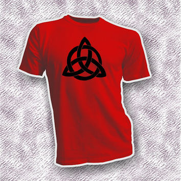 Triquetra protection unisex adult shirt, Wiccan Pagan clothing, Wiccan gift idea him her, Wiccan tee, Triquetra symbol tee, large Triquetra
