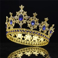 Luxury Royal Queen King Wedding Crown Bride tiaras and Crowns Hair Jewelry Zircon Crystal Diadem Prom Head accessories Pageant