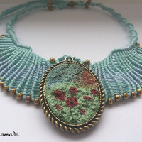 Micromacrame necklace / FREESHIPPING