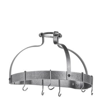 Enclume Dutch Crown Wall-Mounted Pot Rack, Hammered Steel