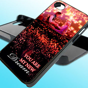 Disney Tangled You Are My New Dream for iPhone 4/4s Case - iPhone 5 Case - Samsung S3 - Samsung S4 - Black - White (Option Please)