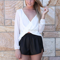 TWISTED FATE TOP , DRESSES, TOPS, BOTTOMS, JACKETS & JUMPERS, ACCESSORIES, 50% OFF SALE, PRE ORDER, NEW ARRIVALS, PLAYSUIT, COLOUR, GIFT VOUCHER,,White,CROP Australia, Queensland, Brisbane