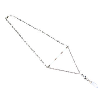 African Porcupine Quill Crystal Quartz Necklace