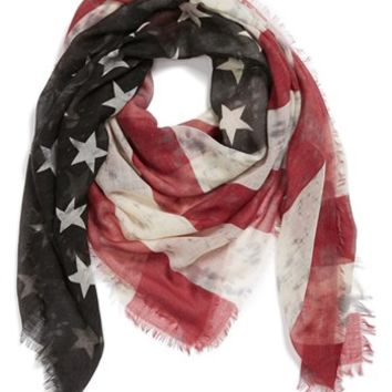 Roffe Accessories American Flag Scarf | Nordstrom