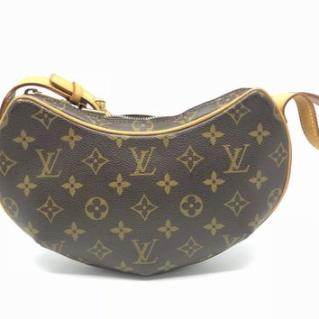 Louis Vuitton Monogram Pochette Croissant Shoulder Bag Brown M51510 6480