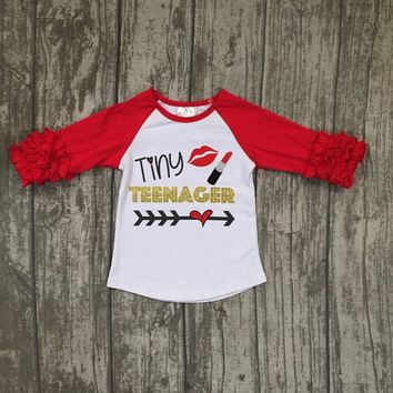 Tiny Teenager Shirt Red and White
