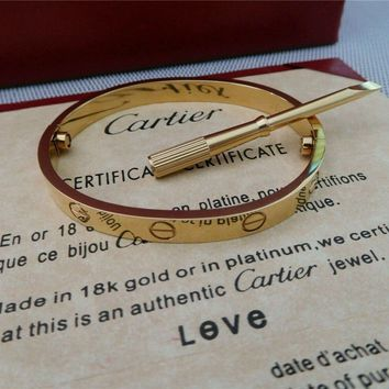 Love Cartier Series -(size 16)Bracelet in 18k Yellow Gold & Screwdriver