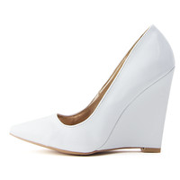 WHITE OUT WEDGE PUMP - White