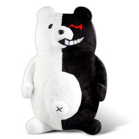 Game Danganronpa Black & White Bear Plush Toy Action Figure Doll