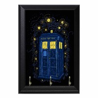 Doctor Who Tardis Time Machine Geeky Wall Plaque Key Hanger