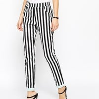 The Laden Showroom X I Love Friday Stripe Trouser With Contrast Cuff at asos.com
