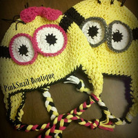 Toddler/Child Boy or Girl Minion Earflap Hat