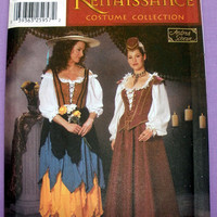 Renaissance Costume Collection Misses' Size 4, 6, 8, 10 Simplicity 5922 Sewing Pattern Uncut
