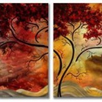 Passionate Light Metal Wall Art - Set of 4 - 51W x 23.5H in.