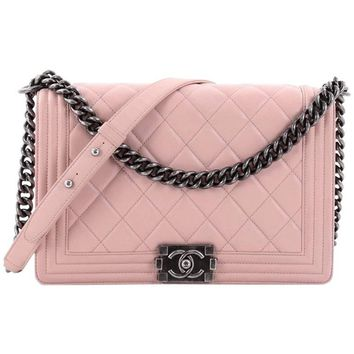 Chanel Boy Flap Bag Quilted Lambskin New Medium