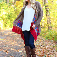 Southern Border Cardi - Brown