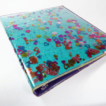 3 Ring Binder Glitter Binder Cover Glitter 1 Inch Binder Back to School