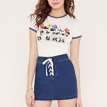 Minnie Graphic Ringer Tee | Forever 21 - 2000153090