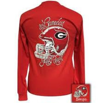 """Georgia Bulldogs Athens """"It's Gameday,  Y'all Ready?"""" Long Sleeve T-Shirt"""
